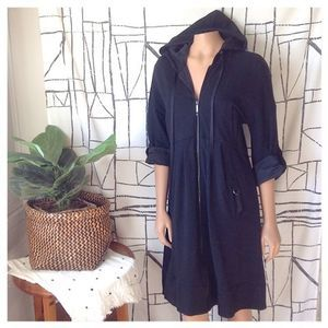 Sportmax Code Zip-Up Hooded Utility Trench Dress